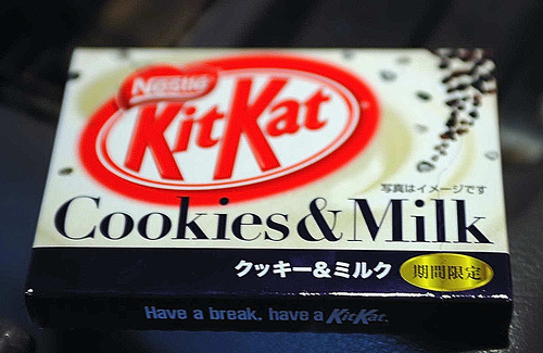 cookies and milk kitkat