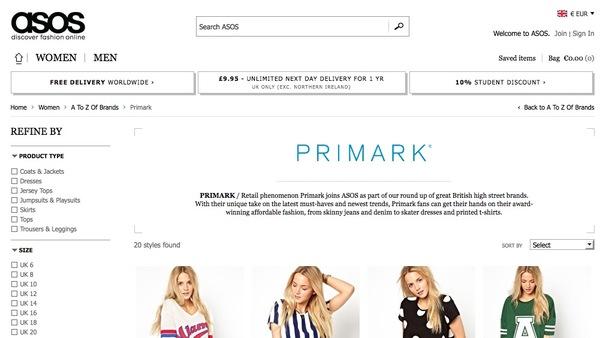 Primark Webshop