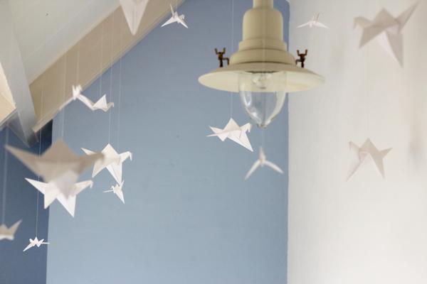 Diy origami bird bedroom proud2live proud2bme for Gekleurd papier action