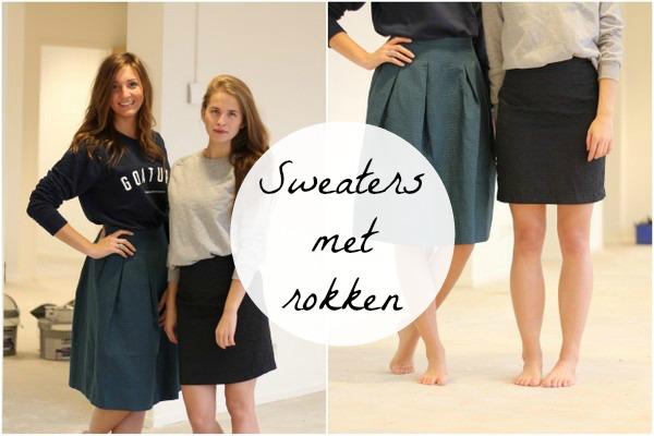 Vaak Sweaters met rokken - Fashionblog - Proud2bme &OO89