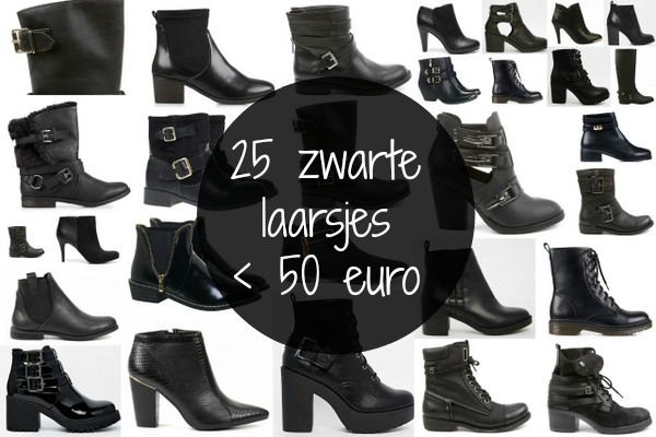 Spiksplinternieuw 25 zwarte laarsjes onder de 50 euro - Fashionblog - Proud2bme CF-68