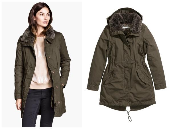 details voor beroemd merk nieuwe producten h&m zwarte jas
