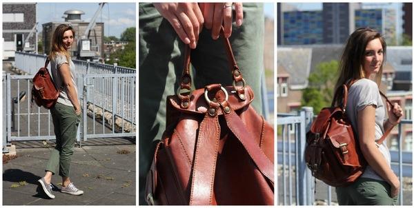 Wonderlijk Vintage leren rugtassen - Fashionblog - Proud2bme OD-48