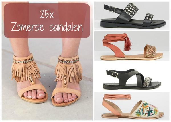 Vaak 25 zomerse sandalen - Fashionblog - Proud2bme #FM83
