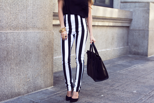 Betere Verticaal zwart wit gestreept - Fashionblog - Proud2bme FF-92