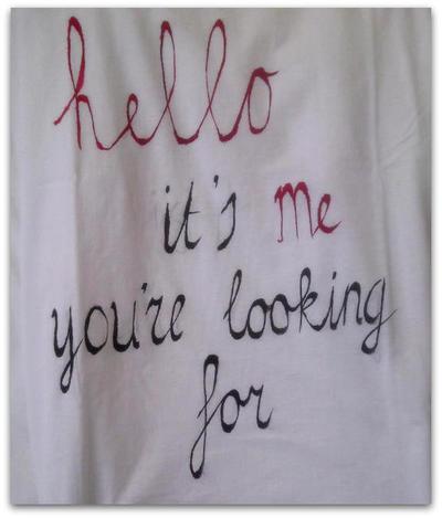 shirt tekst schilderen